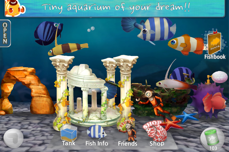 My little fish best aquarium game ever touch arcade for Fish tank game